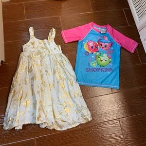 Girls H&M dress and Shopkins top